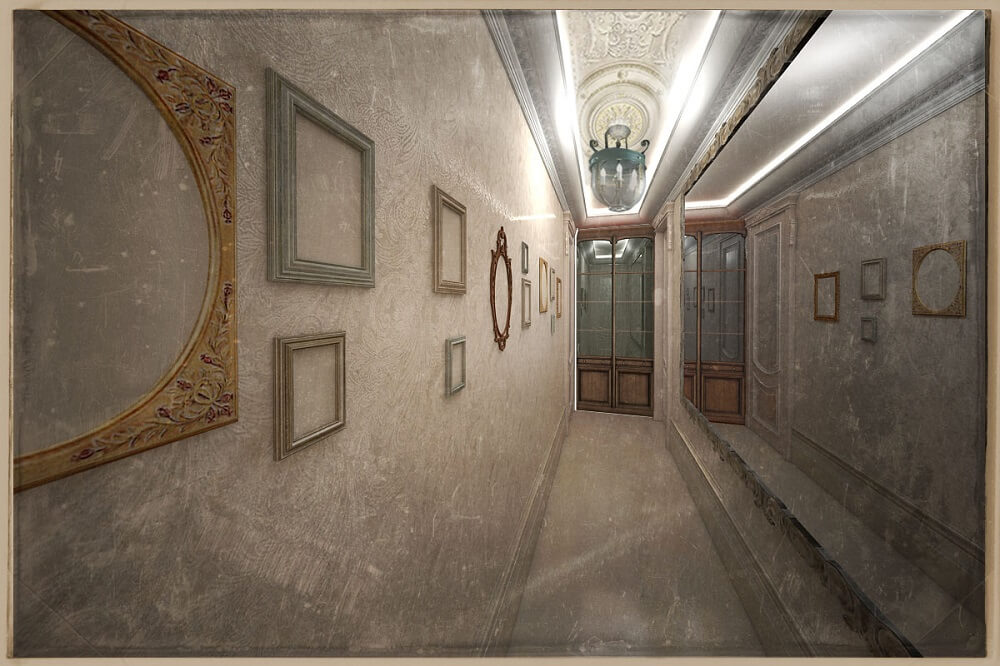 Corridor in a luxury apartment