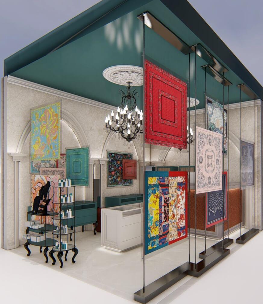 Interior design for a shop