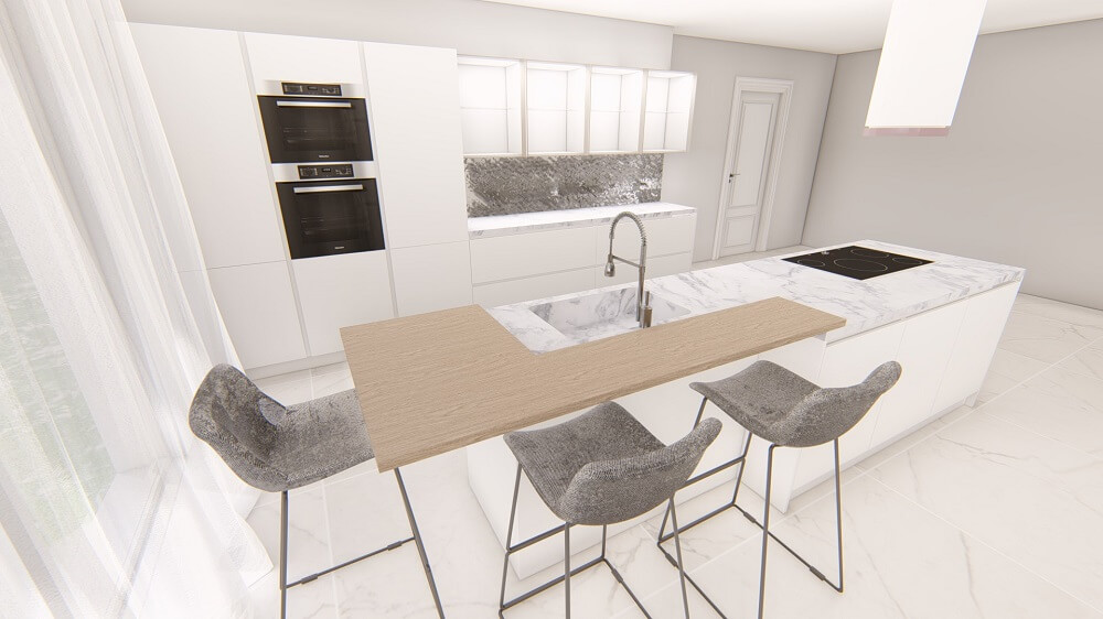 Modern kitchen 3d design