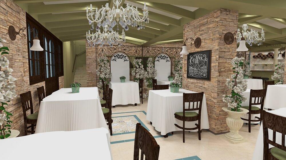 Luxury interior design for restaurant