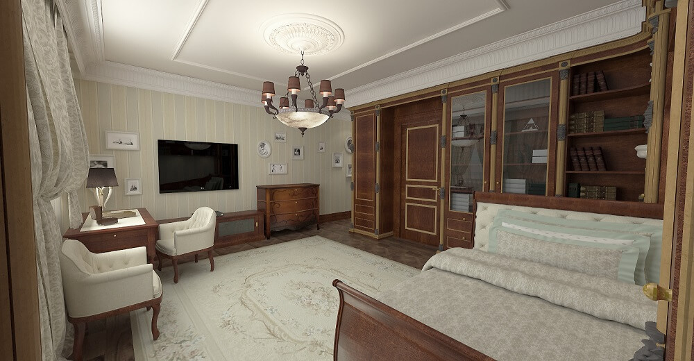 Luxury interior design guest bedroom