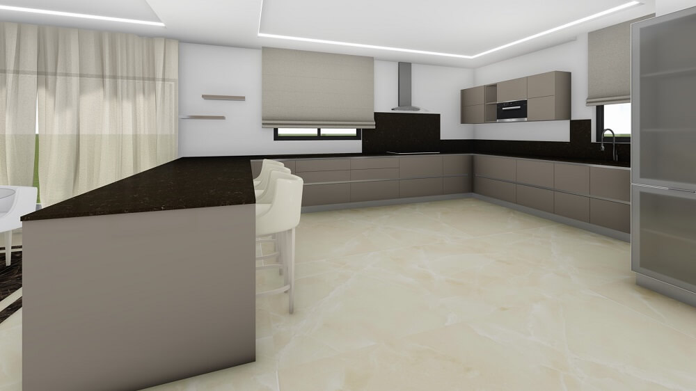 3 room apartment with design