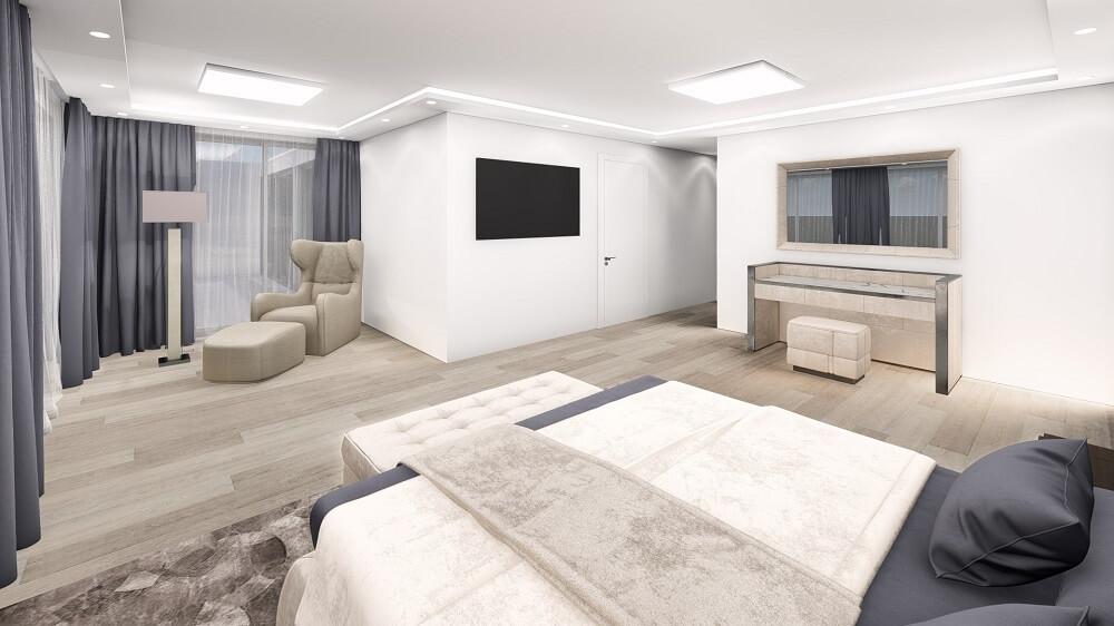 Interior 3d design of a 2 room apartment