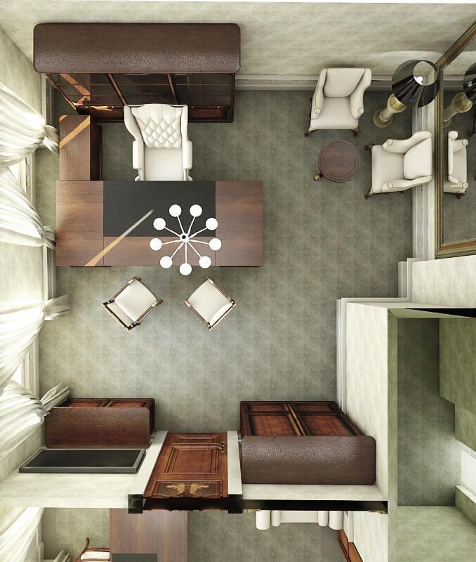 3D office space design