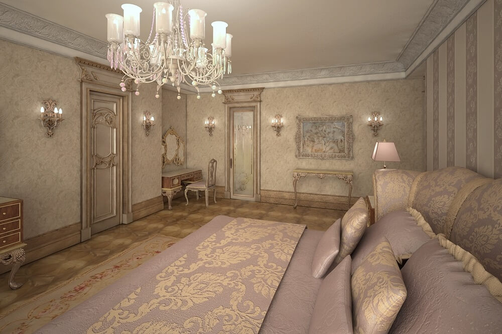 Luxury design of a bedroom