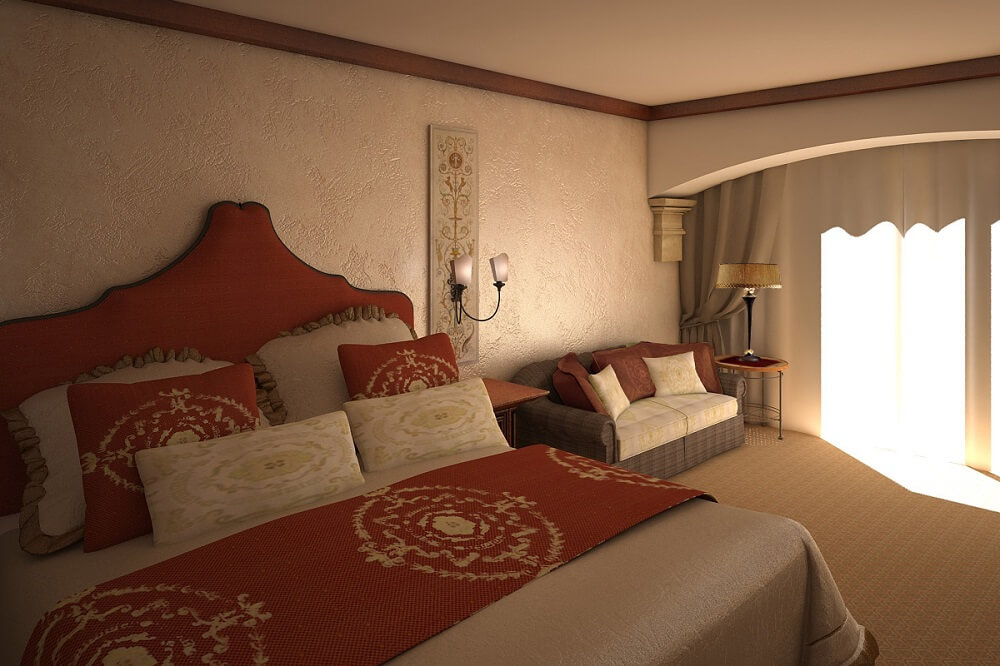 Interior design of a hotel