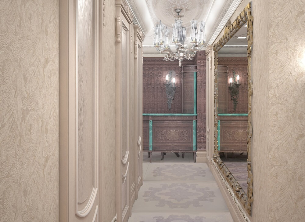 Luxury apartment's corridor