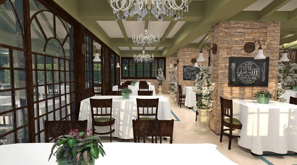 3d restaurant design