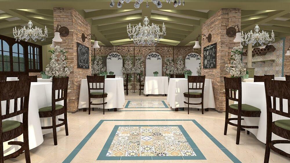 Luxury design of a restaurant