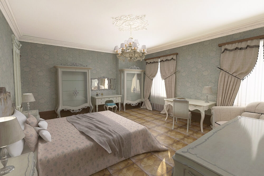 Luxury desing in a bedroom