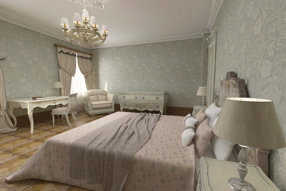Luxury design for a bedroom