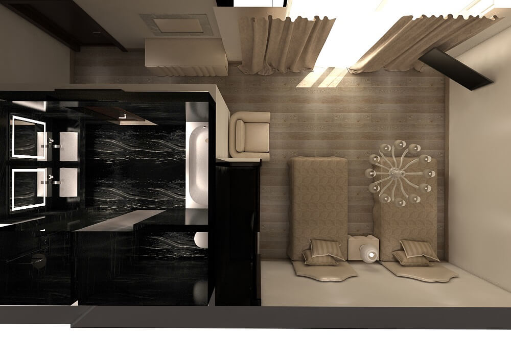 Luxury design - 2 beds and bathroom