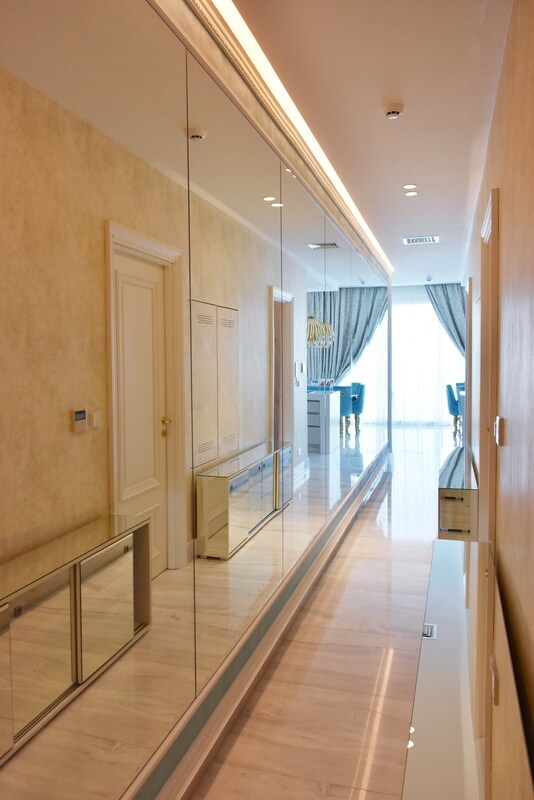 Interior design of corridor