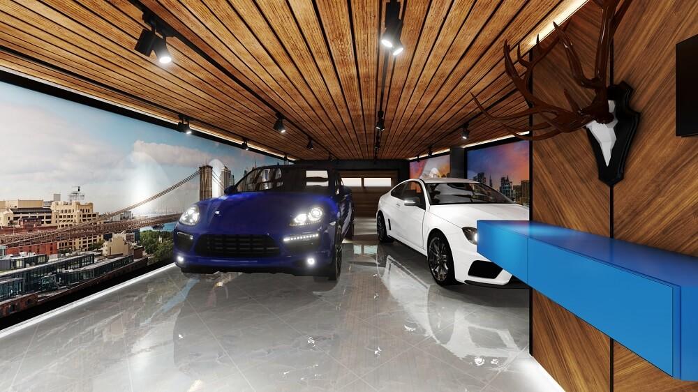 Private house design - garage