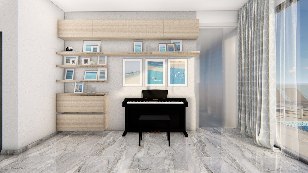 Design interior design of a private house