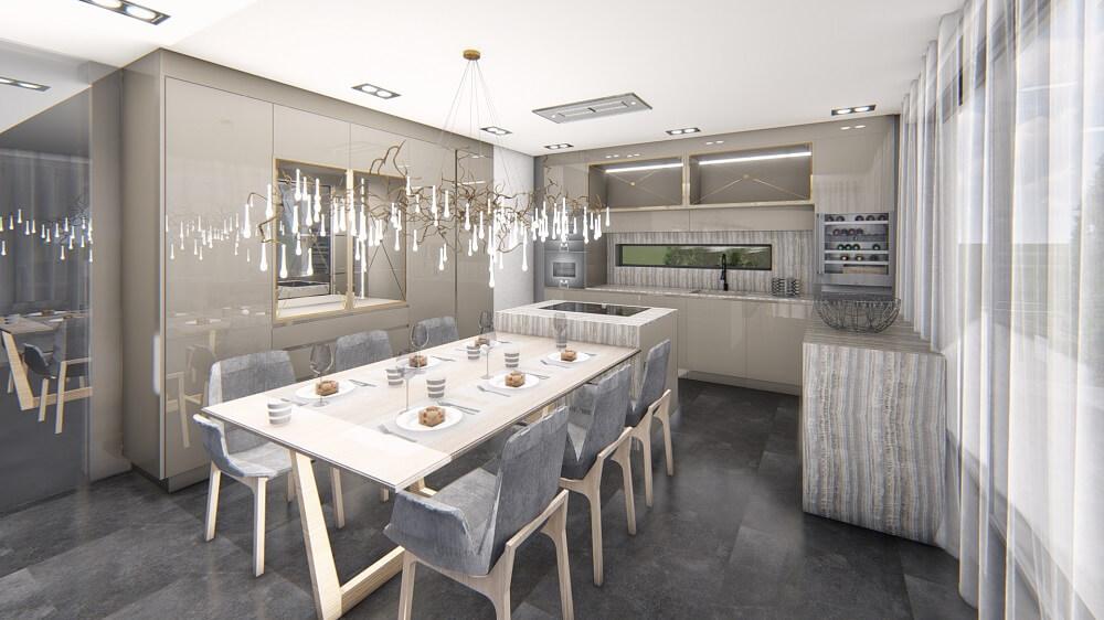 3d design interior design of a private house