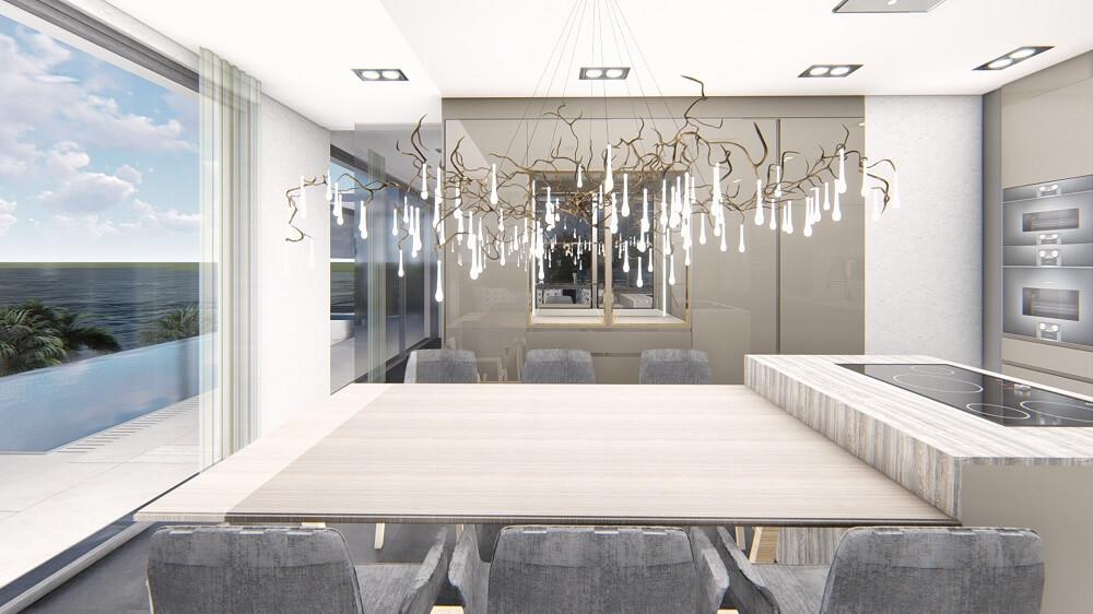 3d design interior design of a private house Cyprus