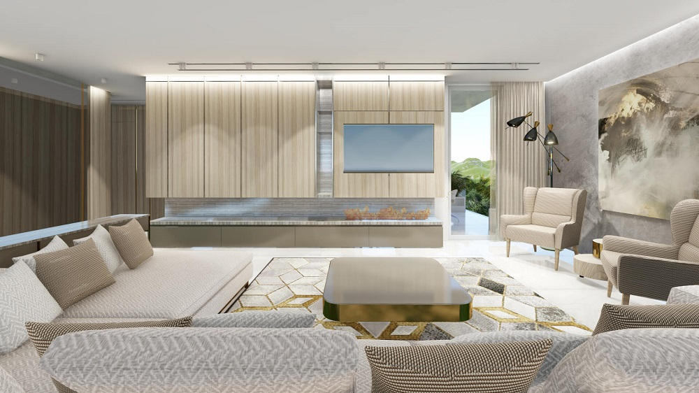 Interior design of modern apartments