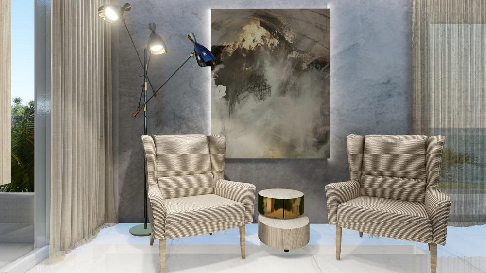 Interior design in modern style