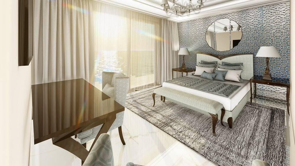 3D design and interior of the apartment